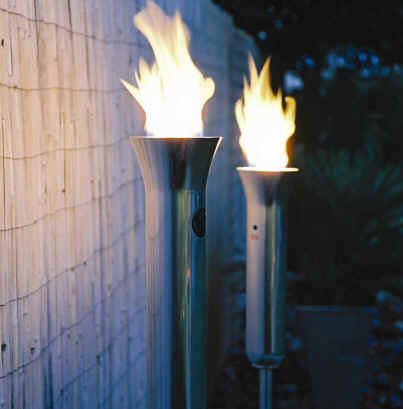 Outdoor Flames At Luxa Flame Lighting