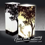 Girl on A Swing Shadow Lamp (click to enlarge)