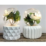 Set of 2 Flower Plant Lamps (click to enlarge)